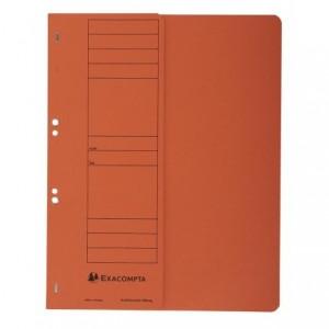 Dosar carton capse 1/2, 250 gr/mp, portocaliu, Exacompta - ACOMI.ro