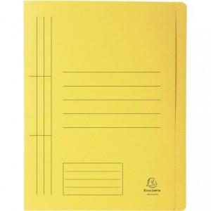 Dosar carton sina, 250 gr/mp, galben, Exacompta - ACOMI.ro