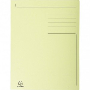 Dosar carton plic, 250 gr/mp, galben, Exacompta - ACOMI.ro