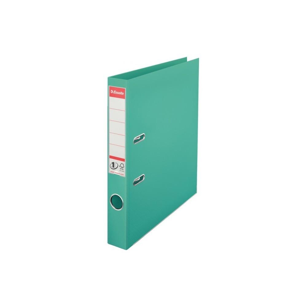 Biblioraft plastifiat de 5.0 cm, turcoaz, A4, ESSELTE No.1 - ACOMI.ro