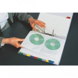 Folie protectie A4, 10 file/set, pentru CD/DVD, 4/coala Esselte - ACOMI.ro
