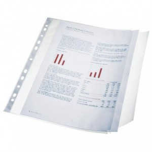 File din plastic, A4, 90 mic, 10 buc/set, transparent, ESSELTE - ACOMI.ro