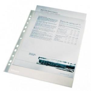 Folie protectie A4, 55 mic, 100 file/set, cristal, Esselte - ACOMI.ro
