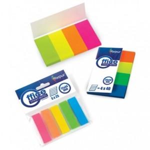 Post-It Index 4 cul/set 20x50mm plastic, Forpus - ACOMI.ro