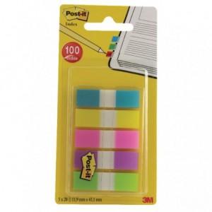 Post-it® Index Mini, 5 culori, 20 file/culoare  - ACOMI.ro