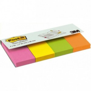 Post-it® Page Marker 2 x 3.8 cm, 4 culori neon/pachet - ACOMI.ro