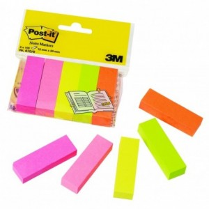 Post-it® Page Marker 1.5 x 5 cm, 5 culori neon/pachet  - ACOMI.ro