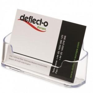 Suport plastic transparent, 50 carti de vizita, Deflect-O - ACOMI.ro