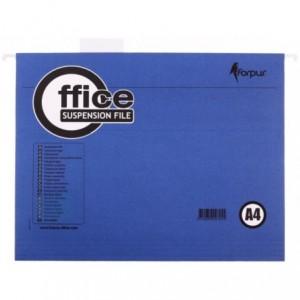 Dosar suspendabil in V A4, carton 200gr/mp, albastru, Forpus - ACOMI.ro