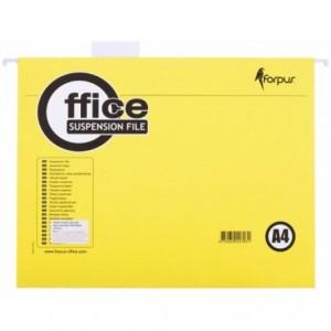 Dosar suspendabil in V A4, carton 200gr/mp, galben, Forpus - ACOMI.ro