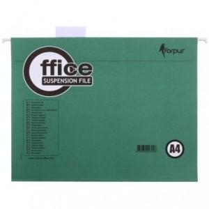 Dosar suspendabil in V A4, carton 200gr/mp, verde, Forpus - ACOMI.ro