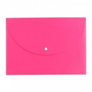 Mapa plastic cu buton A4, culori neon Deli - ACOMI.ro