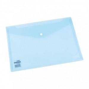 Mapa plastic cu buton A4, culori translucide Deli - ACOMI.ro