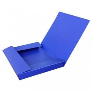 Mapa plastic cu elastic A4, latime 30mm, albastru, FORPUS - ACOMI.ro