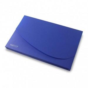 Mapa plastic cotor 25 mm, eticheta, albastru, RAPESCO - ACOMI.ro