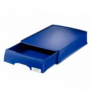 Tavita documente cu sertar, albastru, Plus LEITZ - ACOMI.ro