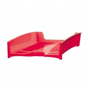 Tavita pentru documente, reciclata, rosu, G2Desk FELLOWES - ACOMI.ro