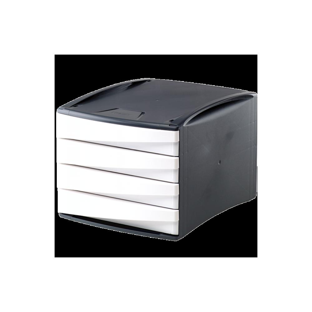 Suport documente, 4 sertare, alb, Fellowes G2Desk - ACOMI.ro