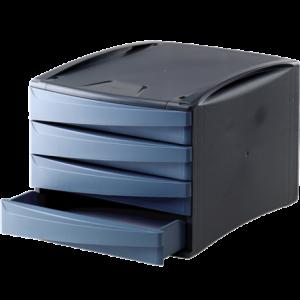 Suport documente, 4 sertare, albastru, Fellowes G2Desk - ACOMI.ro