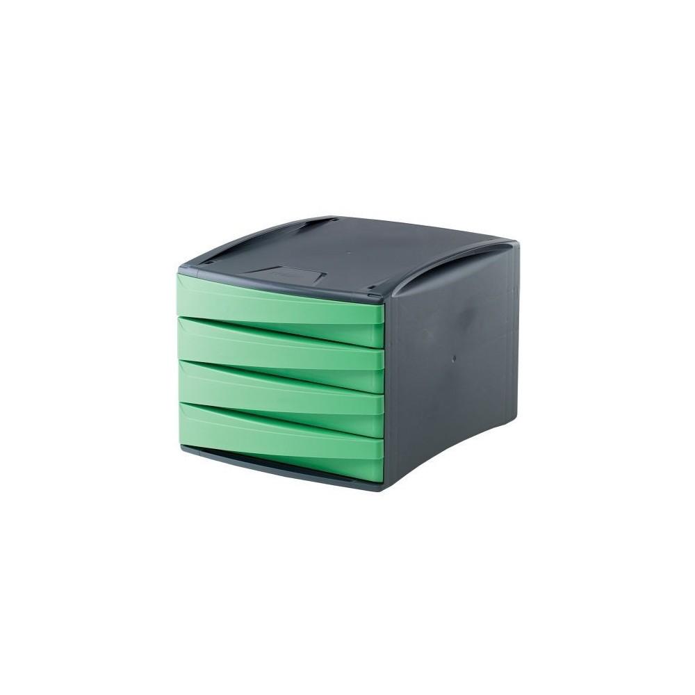 Suport documente, 4 sertare, verde, Fellowes G2Desk - ACOMI.ro