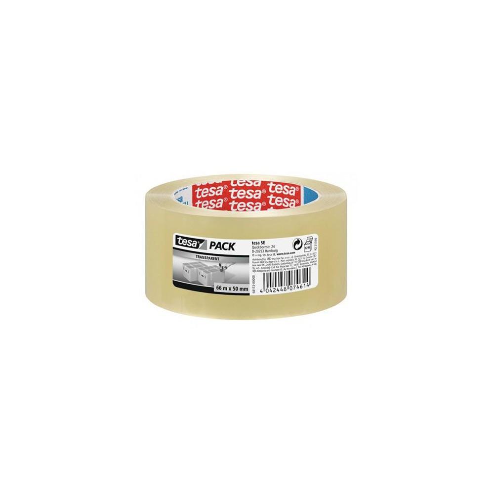 Banda adeziva 48mmx66m transparenta Tesa Solvent