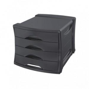Suport cu 4 sertare, negru, Europost Vivida Esselte - ACOMI.ro