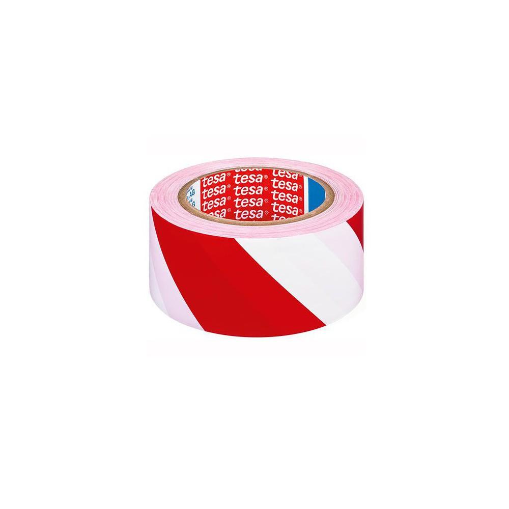 Banda adeziva 50mx33mm Tesa Flex rosu/alb
