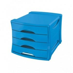 Suport cu 4 sertare, albastru, Europost Vivida Esselte - ACOMI.ro