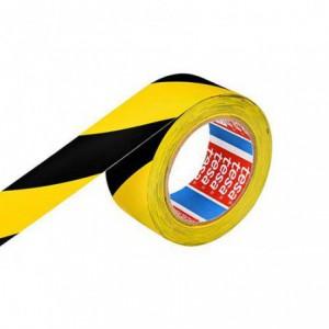 Banda adeziva 50mx33mm galben/negru Tesa Flex