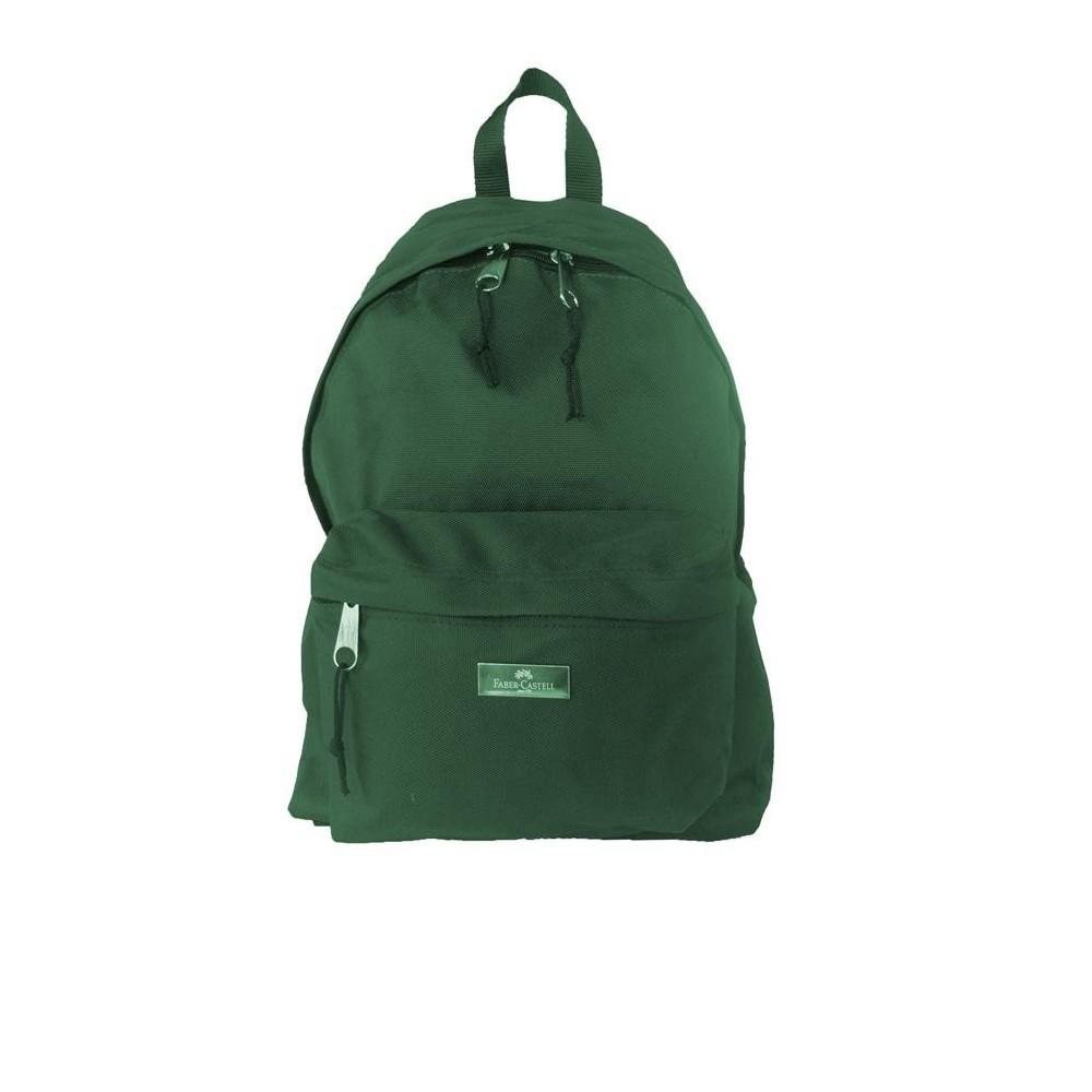 Ghiozdan scolar Basic verde, Faber-Castell - ACOMI.ro