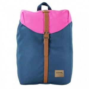 Rucsac simplu albastru-roz, Pigna Oxigen Vintage - ACOMI.ro