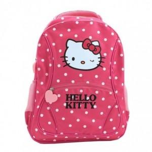Ghiozdan clasele primare, roz cu buline, Pigna Hello Kitty - ACOMI.ro