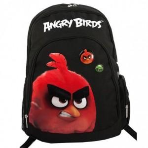 Ghiozdan gimnaziu negru cu rosu, Pigna Angry Birds - ACOMI.ro