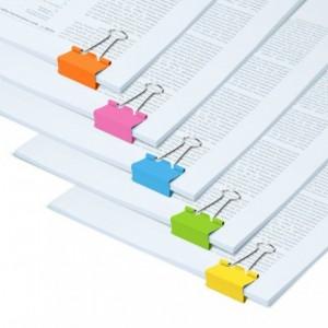 Clipsuri metalice color, 19mm, 10 buc/set, RAPESCO - ACOMI.ro