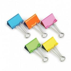 Clipsuri metalice color, 41mm, 10 buc/set, RAPESCO - ACOMI.ro