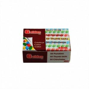 Pioneze metalice color, 50 bucati/cutie, ACM BRAND - ACOMI.ro