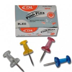 Pioneze panou de pluta, colorate, 100/cutie, ACM BRAND
