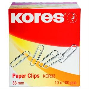 Agrafe metalice 33 mm, 100 buc/cutie, Kores - ACOMI.ro