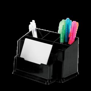 Suport pentru instrumente de scris, 6 compartimente, negru, FORPUS - ACOMI.ro