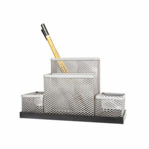 Suport pentru instrumente de scris, MESH argintiu,  FORPUS - ACOMI.ro
