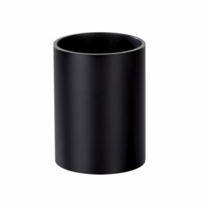 Suport cilindric, pentru instrumente de scris, negru, FORPUS - ACOMI.ro