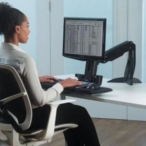 Statie de lucru pentru un singur monitor, Sit Stand Easy Glide Fellowes - ACOMI.ro