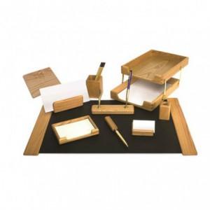 Set birou, 10 piese din lemn - FORPUS