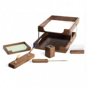 Set birou, 6 piese din lemn - FORPUS