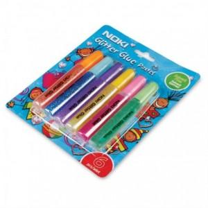 Lipici cu sclipici, culori pastel 12ml, 6 buc/set, Noki - ACOMI.ro
