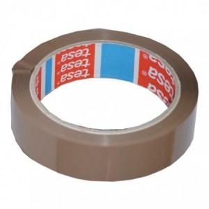 Banda adeziva 66m x 25mm acril, maro, TESA - ACOMI.ro