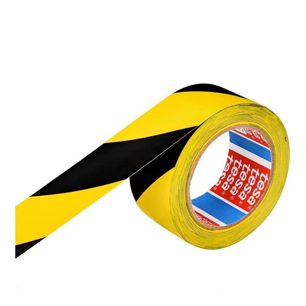 Banda adeziva marcare, galben / negru, TESA - ACOMI.ro