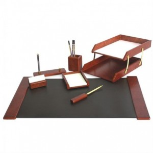 Set birou, 7 piese din lemn de cires - FORPUS - ACOMI.ro