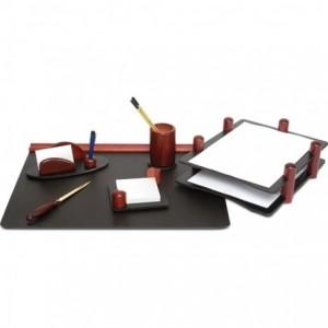 Set birou, 6 piese din lemn de mahon - FORPUS - ACOMI.ro