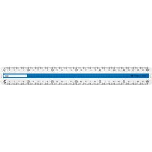 Rigla 30 cm, verde/albastru, Grip Faber-Castell - ACOMI.ro